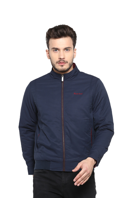 9bb9486de Buy Monte Carlo Blue Mock Collar Jacket for Men's Online @ Tata CLiQ