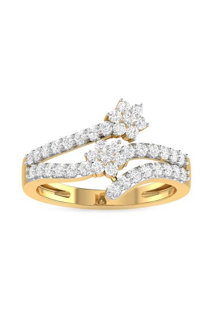 c8d2431b5 Buy PC Jeweller Fanchone 18 kt Gold & Diamond Ring Online At Best Price @  Tata CLiQ