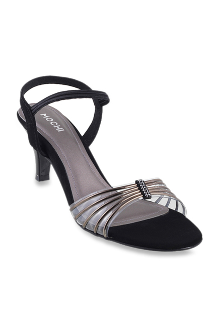 994ca5fe6f5f Buy Mochi Gun Metal Sling Back Stilettos for Women at Best Price   Tata CLiQ