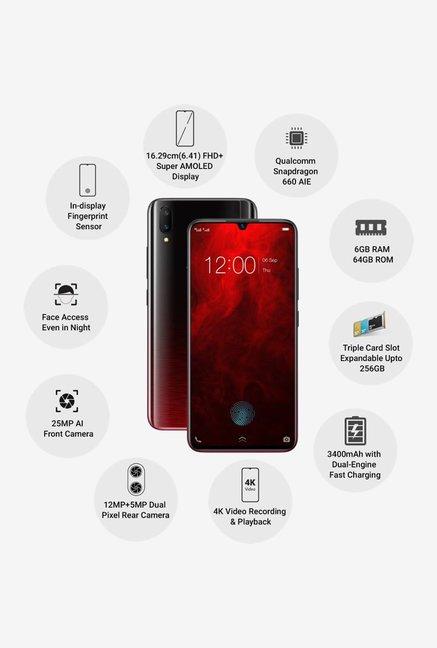 Vivo V11 Pro 64 GB (Supernova Red) 6 GB RAM, Dual SIM 4G