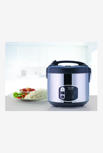 Borosil Digikook BRC18LDSS11 1.8L 650W Electric Rice Cooker (Silver/Black)
