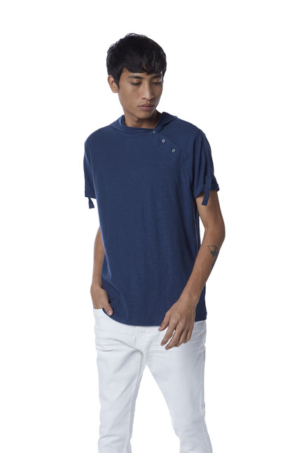 30bb08d8 Buy Nuon by Westside Indigo Slim Fit Pure Cotton T-Shirt for Men Online @ Tata  CLiQ