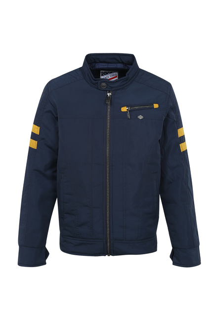 39e8518ba2f5 Buy Monte Carlo Kids Navy Solid Jacket for Boys Clothing Online ...