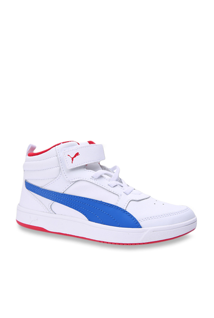 a6cc7d19a1 Buy Puma Kids Rebound Street V2 L V PS White Ankle High Sneakers ...