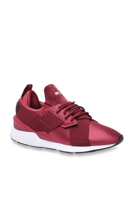 Puma Muse Satin II Pomegranate Sneakers