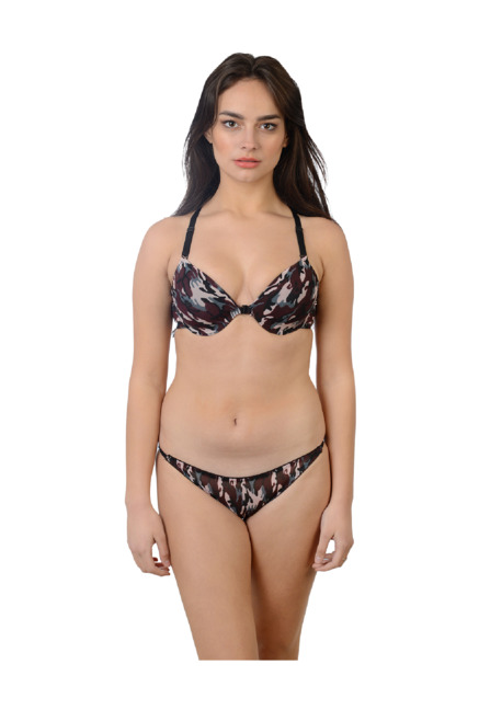 a3201fe2ee54 Buy Da Intimo Multicolor Camo Lingerie Set for Women Online @ Tata CLiQ