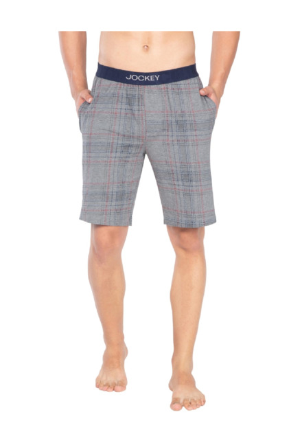 compare price aesthetic appearance cheap for discount Buy Jockey Grey Checks Regular Fit Shorts - IM02 for Men Online @ Tata CLiQ