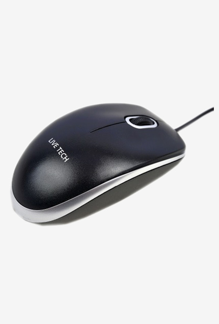 Live Tech MS 20 USB Wired Optical Mouse  Black