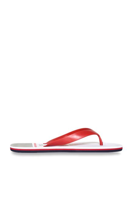 922460f386c96e Buy US Polo Assn. Alta Red   White Flip Flops for Men at Best Price ...
