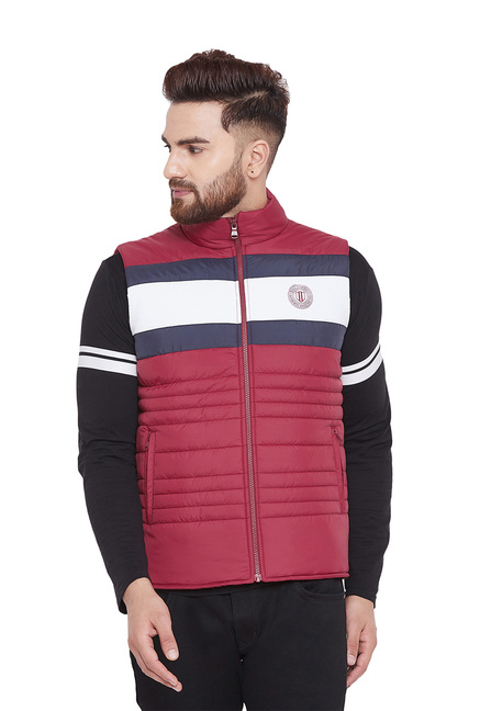 Duke Red Quilted Sleeveless Jacket