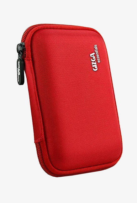 Gizga Essentials GE HDD External Hard Drive Case for 2.5 Inch Hard Drive   Double Padded  Red