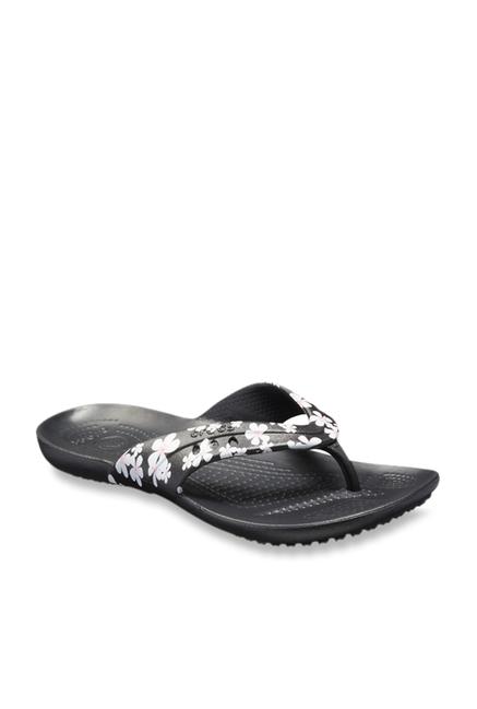 62e158fa89cb4e Buy Crocs Kadee Black Flip Flops for Women at Best Price   Tata CLiQ