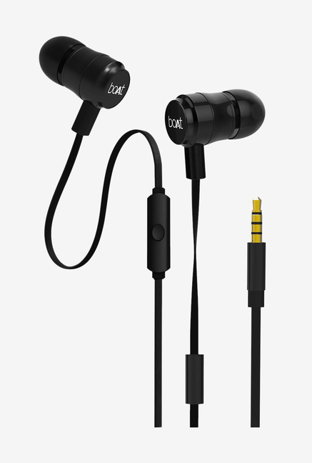 d3cd5179ac9 Buy Boat Bassheads 238 Earphones with Mic (Black) Online At Best Price @  Tata CLiQ