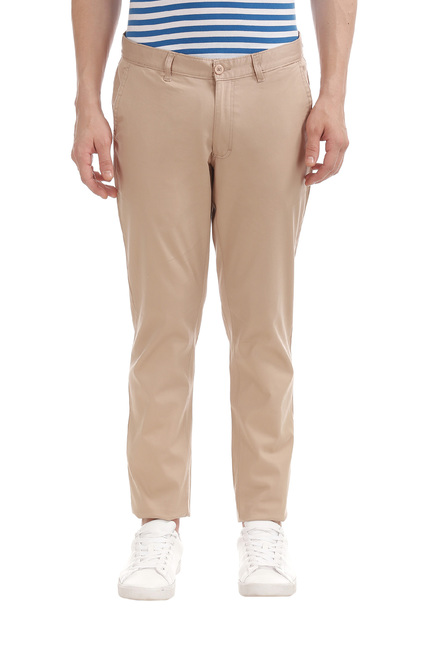 329a9b6d4 Buy Roots By Ruggers Khaki Slim Fit Mid Rise Chinos for Men Online @ Tata  CLiQ