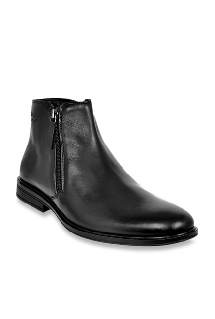 62924b063078 Buy Allen Cooper Black Casual Boots for Men at Best Price   Tata CLiQ