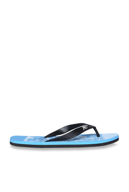 2da5aea2c742b Buy Aeropostale Samuel Black   Sky Blue Flip Flops for Men at Best ...