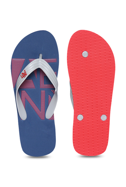 a325b802278d Buy Aeropostale Columbus Grey   Navy Flip Flops for Men at Best ...