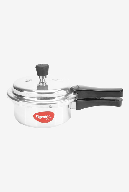 8b1db83d59a Buy Pigeon Deluxe 2L Pressure Cooker (Silver Black ) Online At Best ...