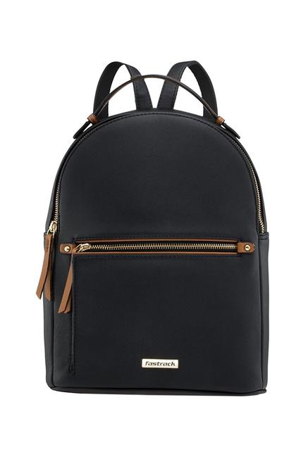 Fastrack Black Solid Backpack