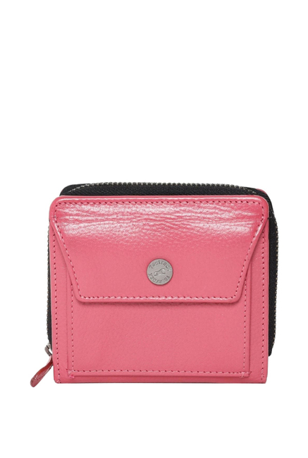Fastrack Pink Solid Leather Wallet