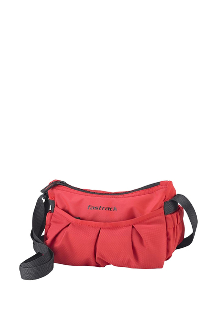 Fastrack Red Solid Polyester Sling Bag