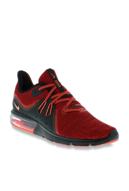 a55cca121 Buy Nike Air Max Sequent Red Running Shoes for Men at Best Price ...