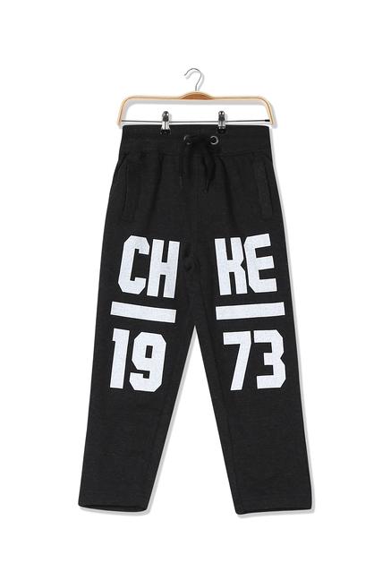 079162cd4 Buy Cherokee Kids Black Printed Trackpant for Boys Clothing Online ...