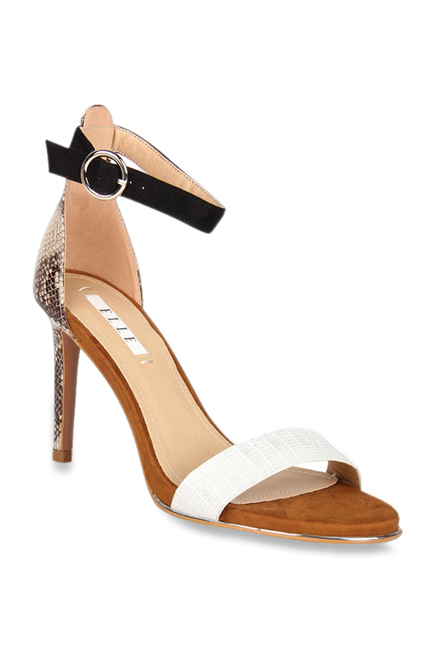 009d91af7ac Buy Elle Brown & Black Ankle Strap Stilettos for Women at Best Price ...