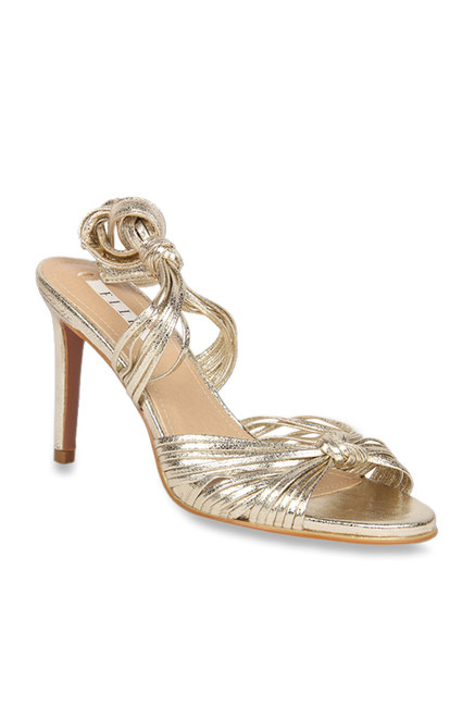 526a6d7b240 Buy Elle Golden Ankle Strap Stilettos for Women at Best Price @ Tata ...