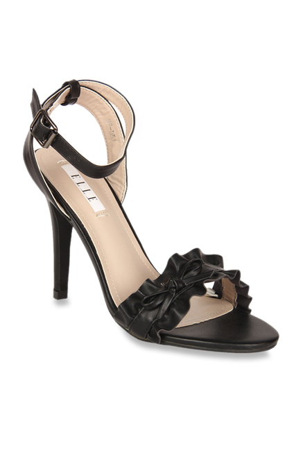 bb5f12f8a83 Buy Elle Black Ankle Strap Stilettos for Women at Best Price @ Tata CLiQ