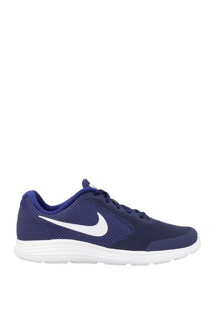Buy Nike Kids Revolution 3 Blue Lace Up