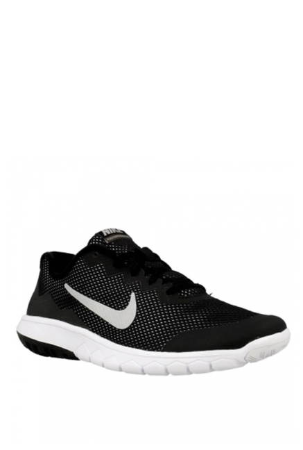 0488a9ef52f42 Buy Nike Kids Flex Experience 4 Black Lace Up Shoes For Kids Online At Tata  CLiQ