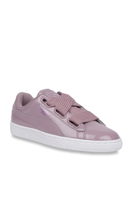 newest collection 6de45 525e5 Buy Puma Basket Heart Patent Lilac Sneakers for Women at ...