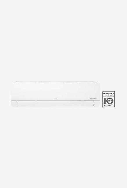 LG 1.5 Ton Inverter 3 Star Copper  2019 Range  KS Q18HNXD Split AC  White