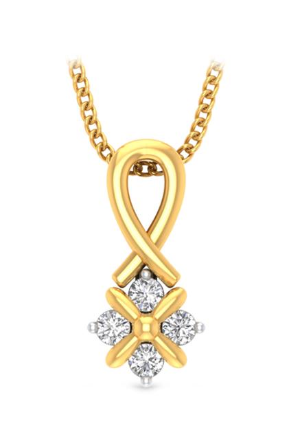 P.N.Gadgil Jewellers Zoe 18 kt Gold   Diamond Pendant