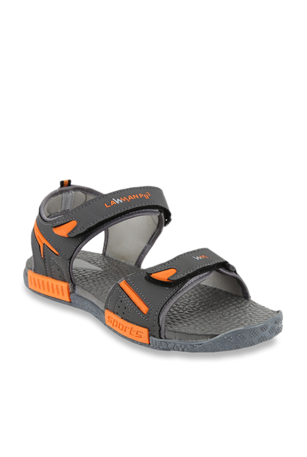 046985812f6c Buy Lawman Pg3 RideFoot Dark Grey Floater Sandals for Men at Best Price    Tata CLiQ