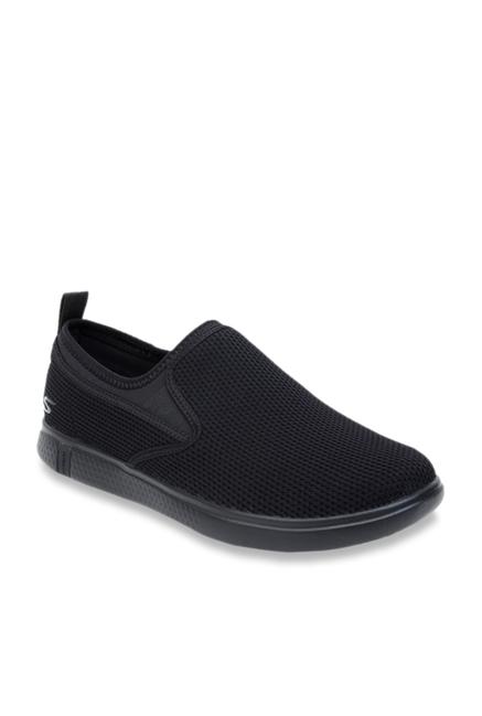 03cf65d1fe1 Buy Skechers Black Casual Slip-Ons for Men at Best Price   Tata CLiQ