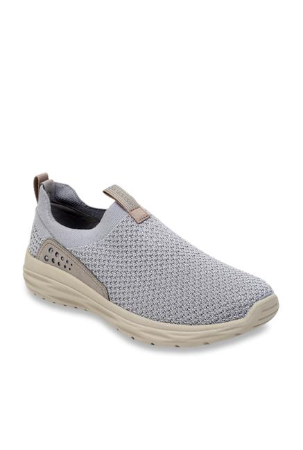 5e261ee6ea3 Buy Skechers Light Grey Casual Slip-Ons for Men at Best Price   Tata CLiQ