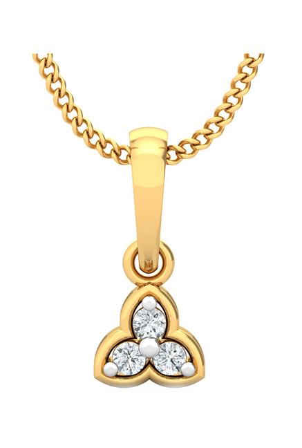 P.N.Gadgil Jewellers 18 kt Gold   Diamond Pendant