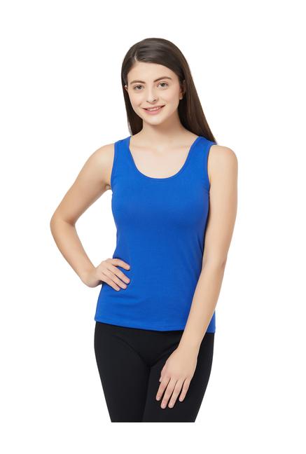 02cf3afc4d53d0 Buy Soie Blue Cotton Camisole for Women Online   Tata CLiQ