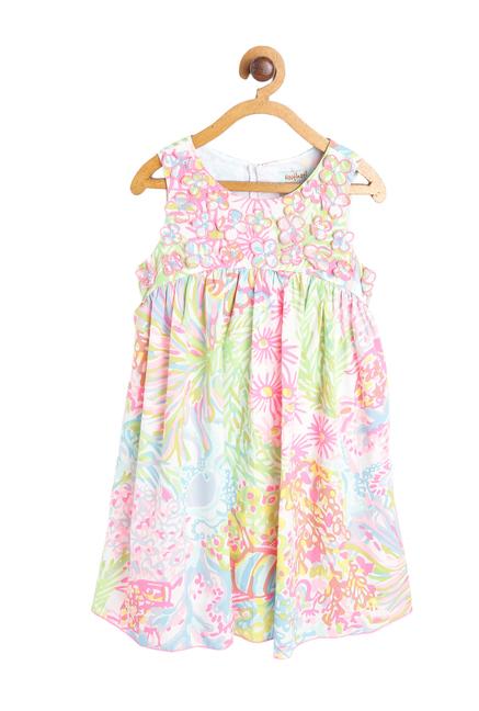 c151f080a63ca Buy Nauti Nati Kids Multicolor Printed Dress for Girls Clothing Online @  Tata CLiQ
