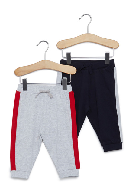 04dc1a1a1006 Buy Baby HOP by Westside Navy And Grey Joggers Set Of Two for Infant Boys  Online @ Tata CLiQ