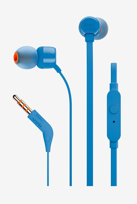JBL T160 Wired Headphones with Mic (Blue)