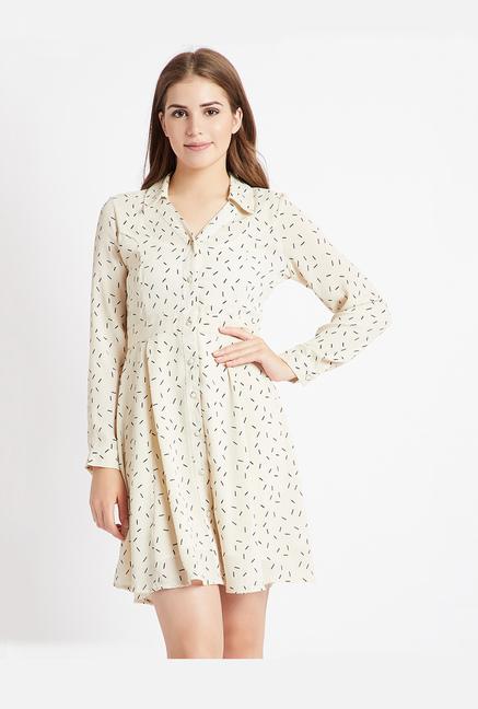 1b9352f0a04a Buy Coverstory White Printed Mini Dress for Women Online   Tata CLiQ