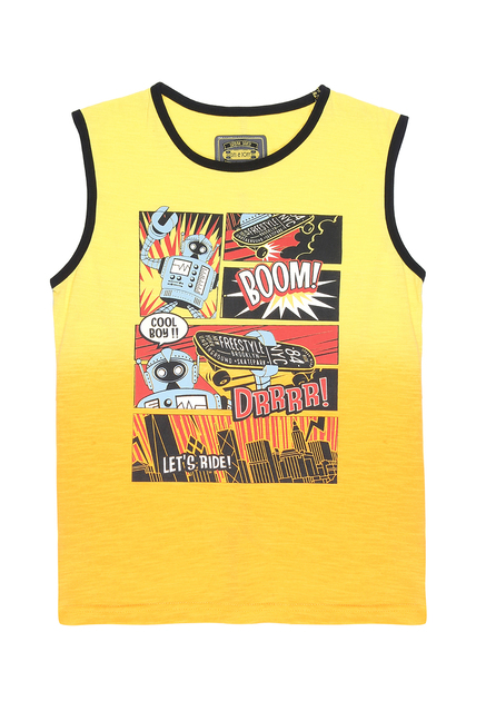 c85414cbc3e Buy Gini   Jony Kids Yellow Printed Sando for Boys Clothing Online ...