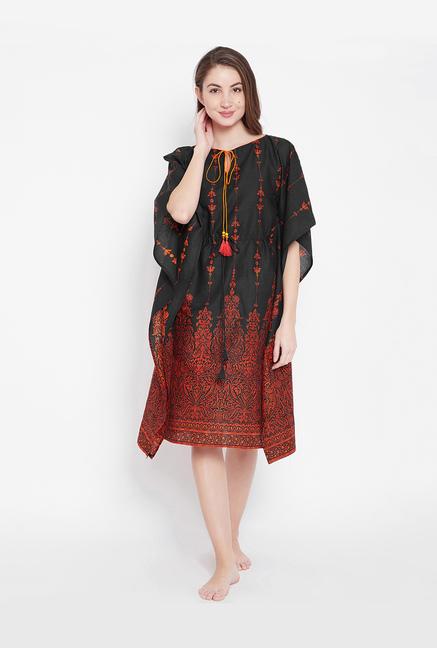 29ab1cd13ca Buy The Kaftan Company Black Printed Kaftan for Women Online ...