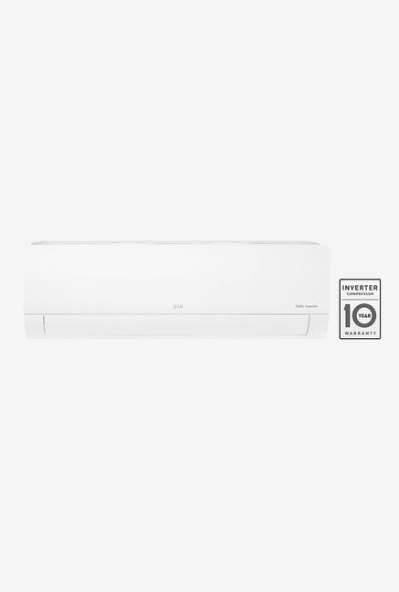 LG 1 Ton Inverter 5 Star Copper (2019 Range) KS-Q12YNZA Split AC (White)