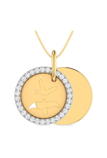 Buy PC Jeweller Love Birds 18 kt Gold & Diamond Pendant