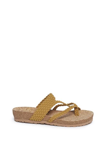 89c5da45f67 Buy LUNA BLU by Westside Yellow Braid Design Sandals For Women ...