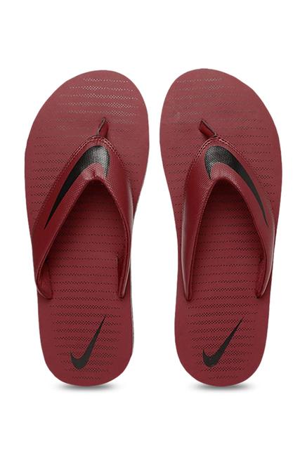 c572ef336930 Buy Nike Chroma 5 Ox-Blood Flip Flops for Men at Best Price   Tata CLiQ